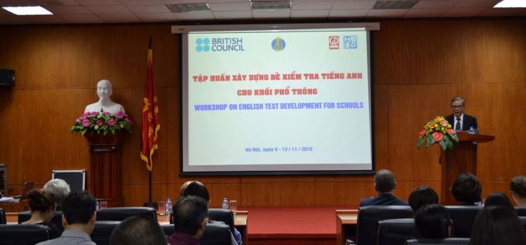 Hội thảo tập huấn phát triển đề kiểm tra, đánh giá môn tiếng Anh
